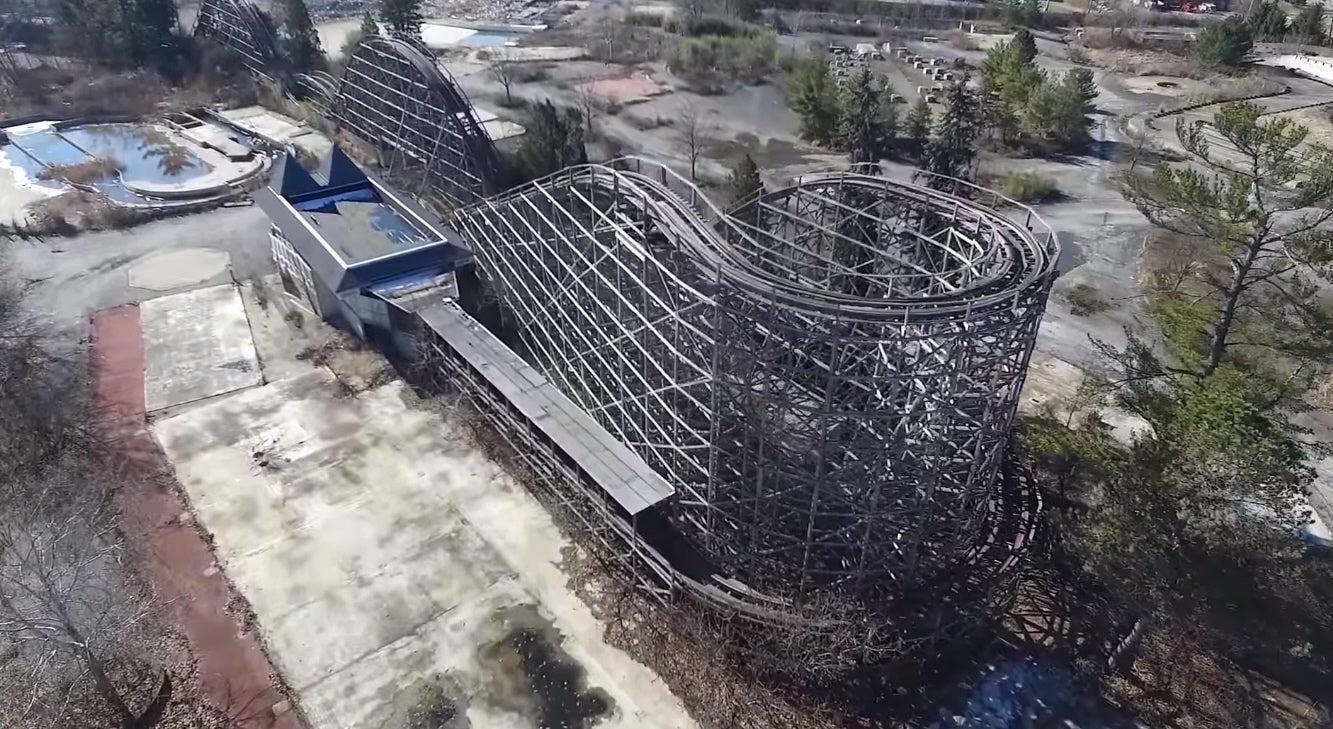 Drones Film The Bones Of An Extinct Ohio Rollercoaster