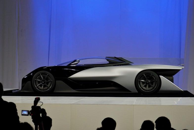 Faraday Future FFZERO1 electric car concept on stage
