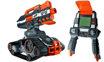 A Crawling Drone Carries Nerf's Newest Dart Gun