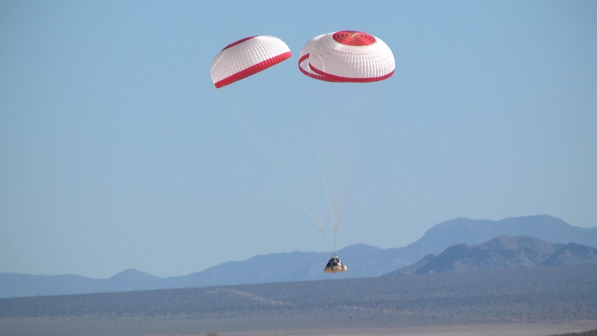 Boeing's Space Capsule Undergoes First Drop Test