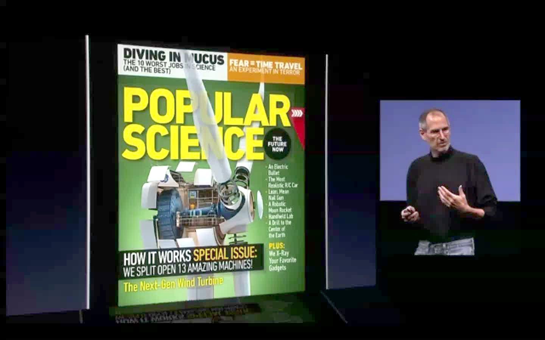 Video: Steve Jobs Loves Popular Science+ on the iPad