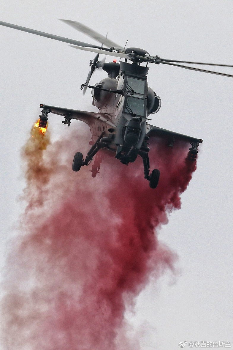 China's showing off its new helicopters