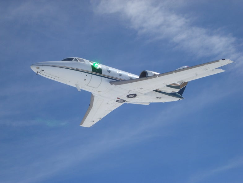 Lockheed Mounted A Laser Turret On Business Jet