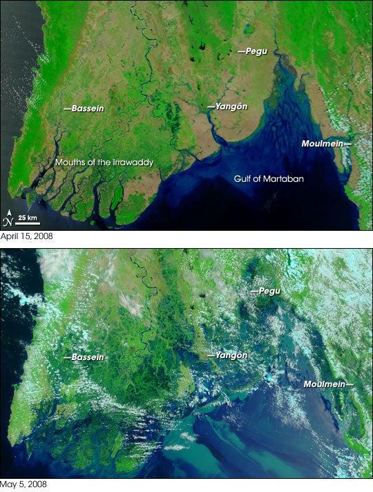Satellite Images of Devastation in Burma