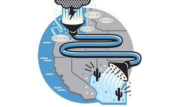 Is there a way to send excess rainfall to the desert?