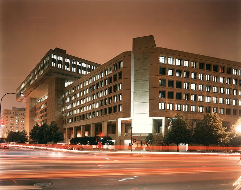 FBI Headquarters At Night.