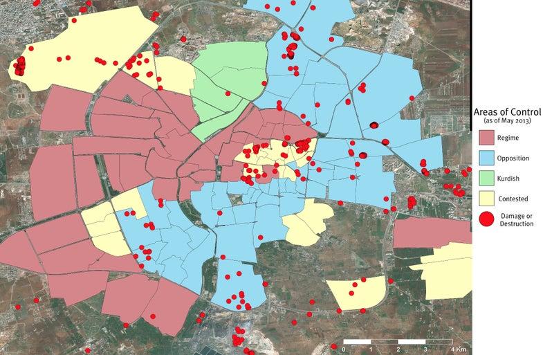 Satellite Photos Map The Destruction In Syria