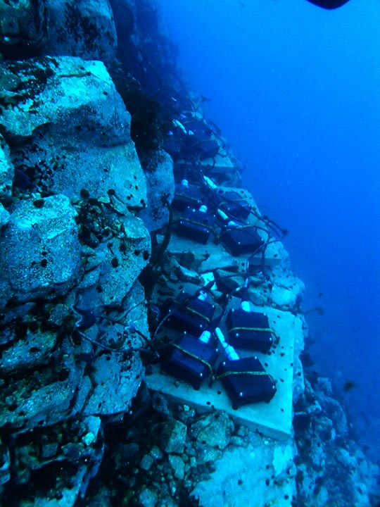 heating element on the seabed