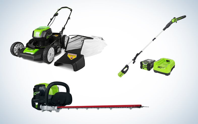 Greenworks lawn care gear