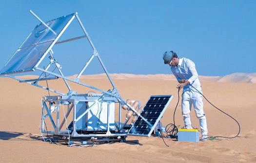 A 3-D Printer That Uses the Sun to Create Glass Objects Out of Sand