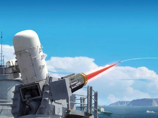 Video: Raytheon's Ship-Mounted Laser Weapon Incinerates a UAV in Flight