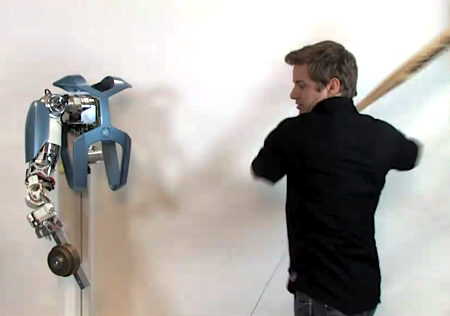 Video: German Researchers Smash Robot Arm With a Baseball Bat