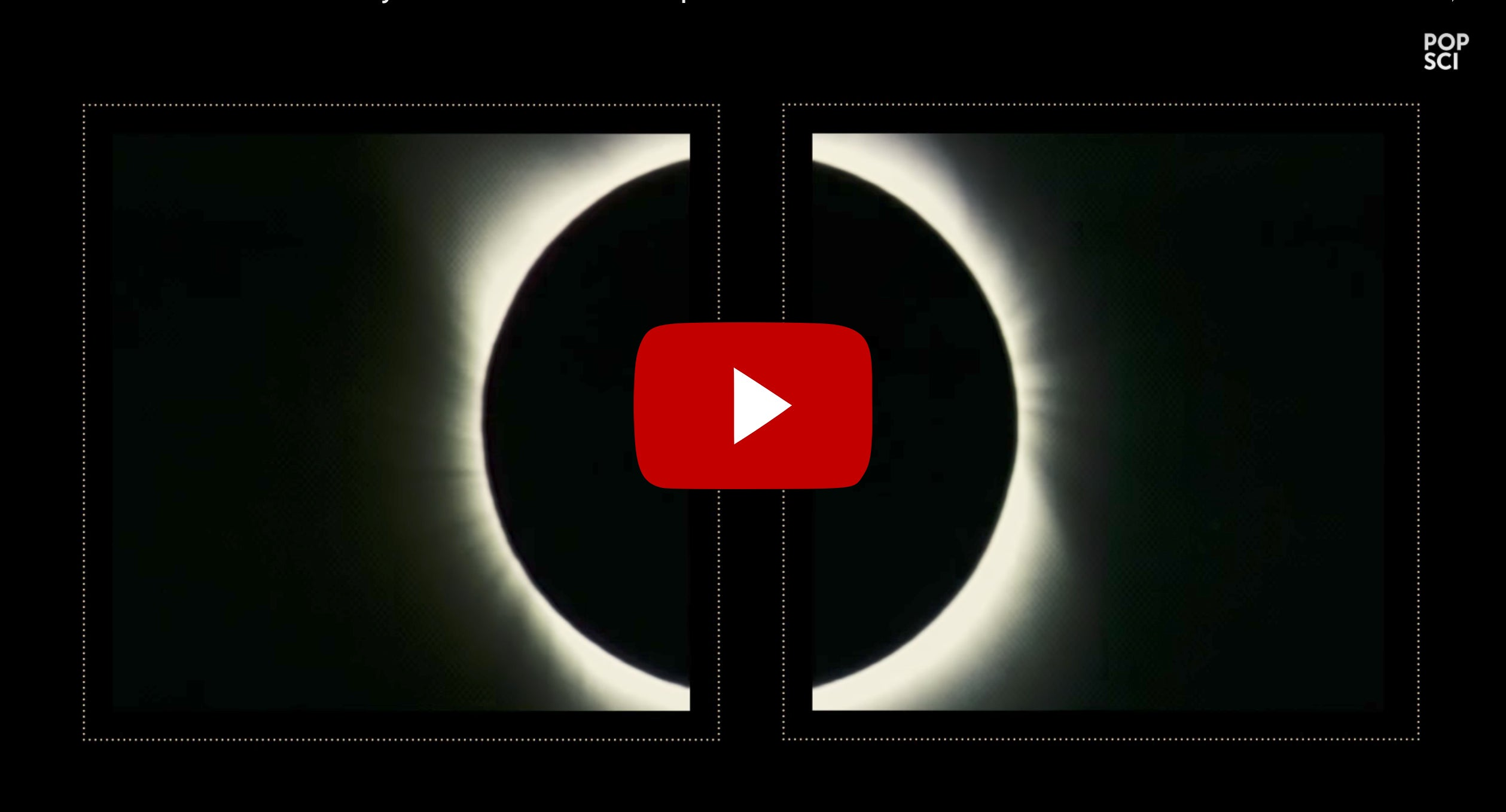 WATCH: The coincidental geometry of a total solar eclipse