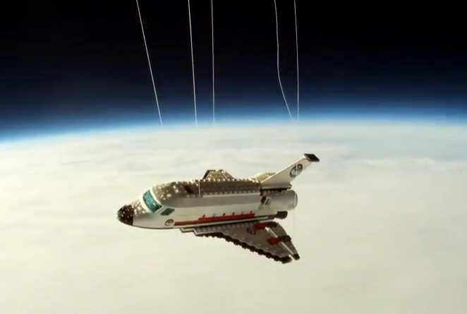 Video: Lego Space Shuttle Lifts Off for the Stratosphere