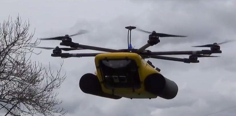 Marsh Drone Floats On Water To Search Murky Depths Below