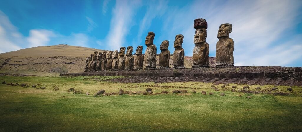 Statues on Easter Island.