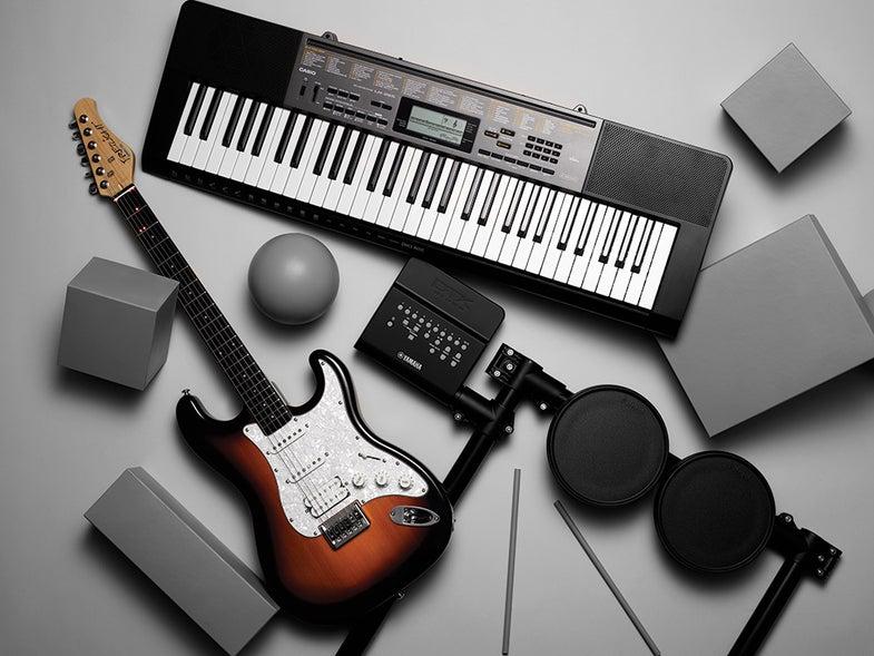 آلات موسیقی در هواپیما
