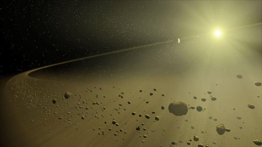 Dust orbiting a star