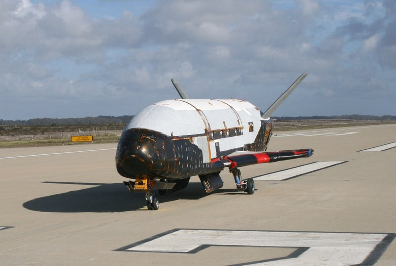 X-37B On Runway