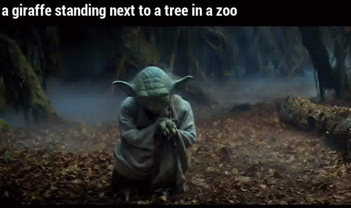 Yoda Stands In A Swamp