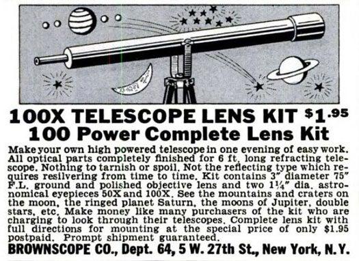 Telescope Lens Kit: April 1941