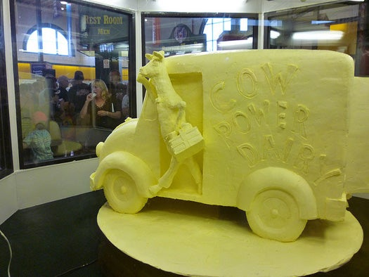 To Test New Tech, Researchers Churn an 800-Pound Butter Sculpture into Biodiesel
