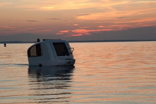 Video: Take to the Road, and the Seas, in an Amphibious Camping Trailer