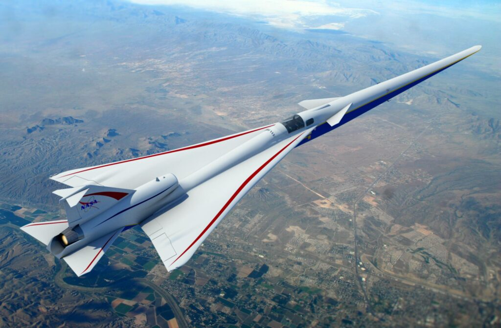 nasa quesst supersonic jet flying