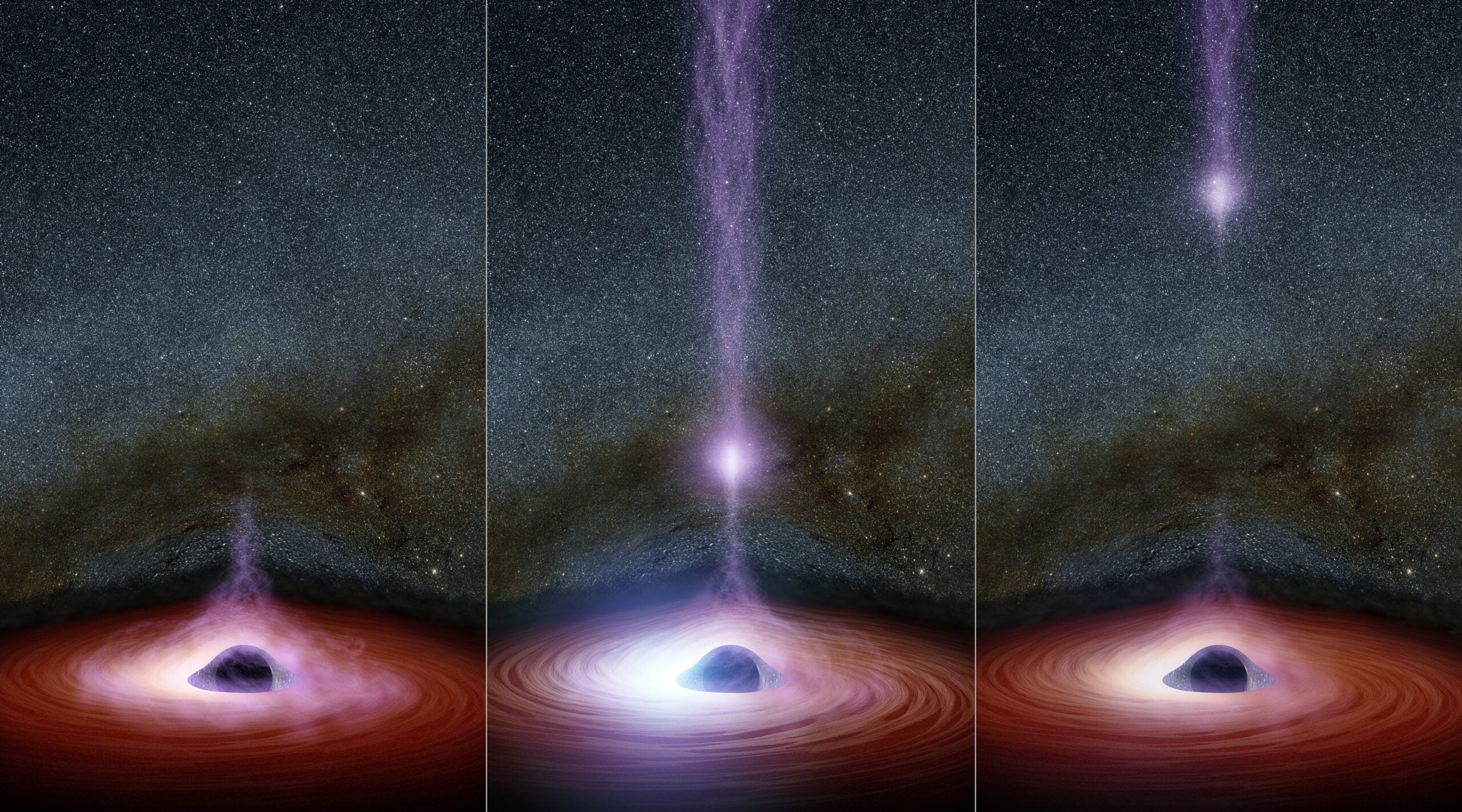 What Gives A Black Hole Its Giant Flare?