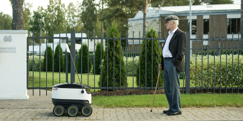 Forget Delivery Drones: This Tiny Robot Car Carries Packages Over Ground