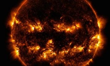 Big Pic: The Sun Gives Off A Jack-O'-Lantern Leer