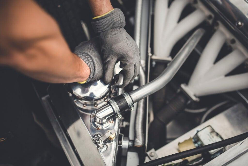 The guts of the Jaguar XKSS
