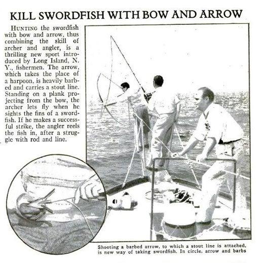 Fishing Meets Archery: October 1933
