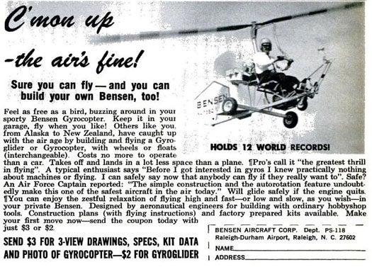 Gyrocopter: November 1968