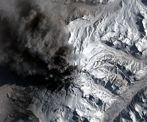 See The Mount Redoubt Eruption From Space