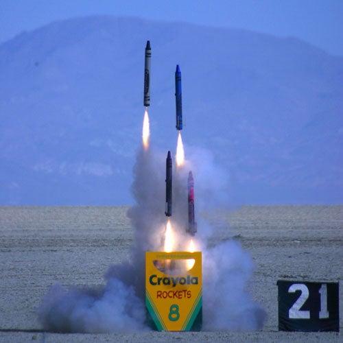 Born Again Rocketeer's DIY Crayon Rockets