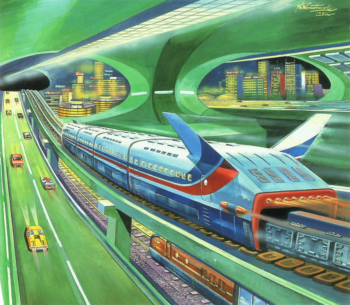 Shigeru Komatsuzaki's Beautiful 1960s Visions of the Future Pulled From Japanese Model Kits