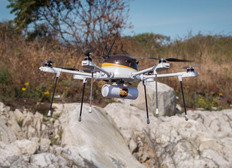 Watch A UPS Drone Deliver Medical Supplies To An Island