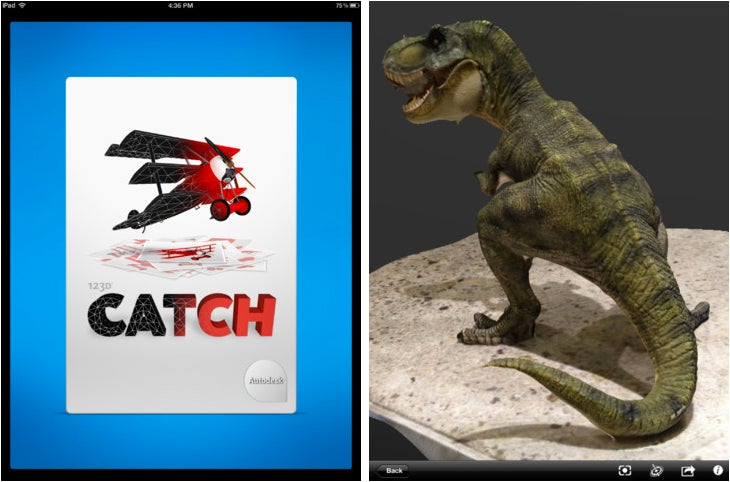 New iPad App 123D Catch Turns Pictures Into Printable 3-D Renders
