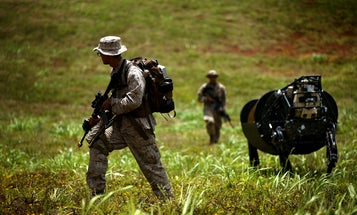 Marines Prepare For Future War With Robot Horses And Swimming Trucks