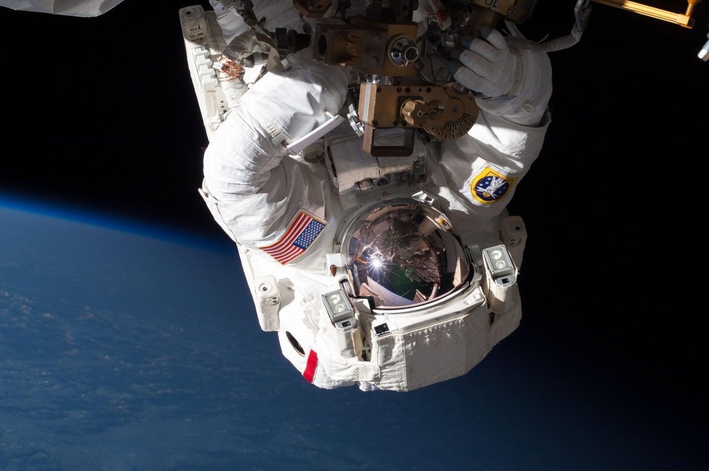 astronaut on spacewalk