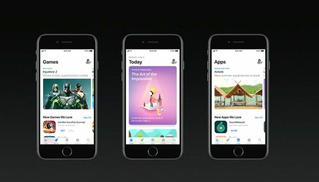 App store redesign iOS 11