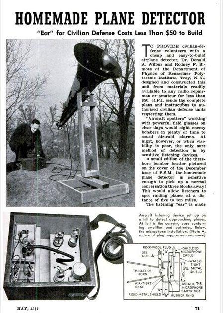 Homemade Plane Detector: May 1942