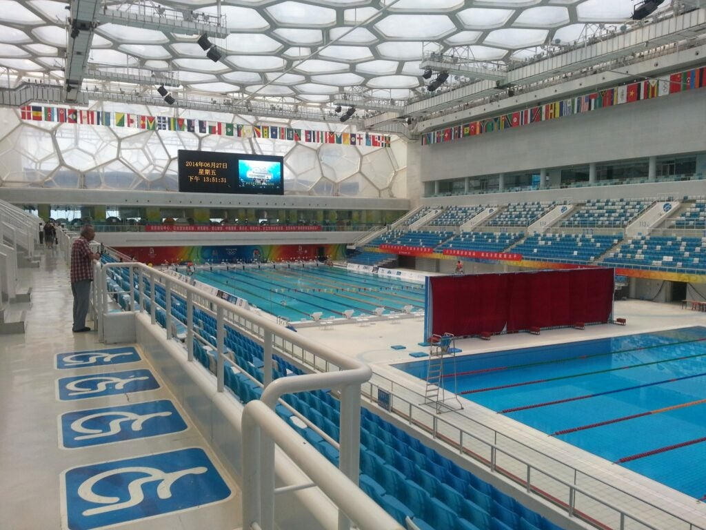 ETFE foil design Olympic pool swimming pool Beijing