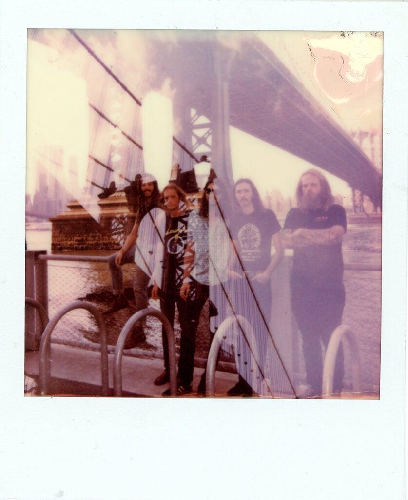 Polaroid Onestep+ sample people on bridge