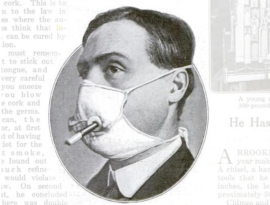 A Flu Mask Modified For A Smoke