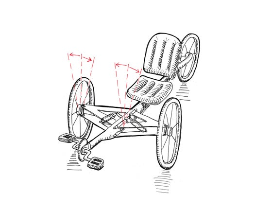 A Recumbent Tricycle Allows Those Who Have Trouble Balancing to Cycle