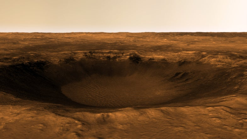 Check Out This Beautifully Rendered Image Of A Martian Valley