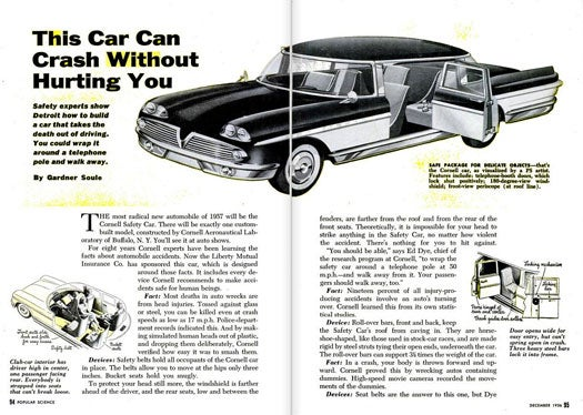 A Car That Can't Hurt You: December 1956