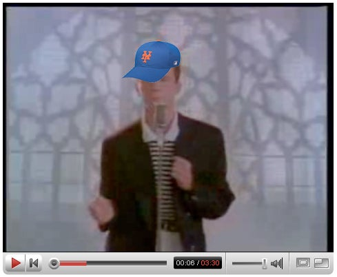 Rickrolling the Mets